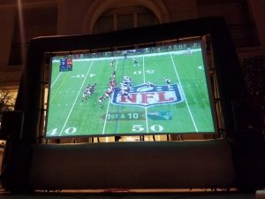 Football LIVE and super sized!