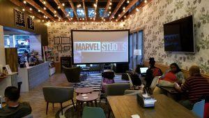 indoor big screen theater