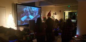 Indoor movie nights